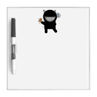 Ninja Kitty Dry-Erase Whiteboard