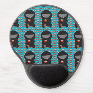 Ninja Kitty Eating Noodles Gel Mouse Pad