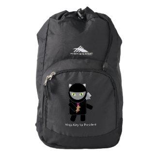 Ninja Kitty for President High Sierra Backpack
