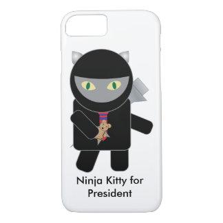 Ninja Kitty for President iPhone 8/7 Case