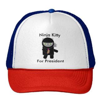 Ninja Kitty for President Trucker Hat