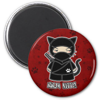 Ninja Kitty! In Red Magnet