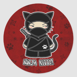 Ninja Kitty! In Red Sticker