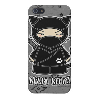 Ninja Kitty! Ninja iPhone 4 Case Grey