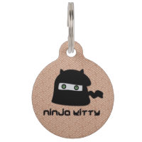 Ninja Kitty Pet ID Tag