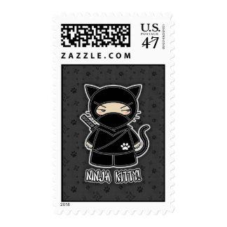 Ninja Kitty! Postage Stamp