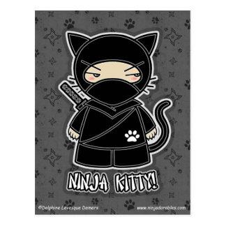 Ninja Kitty! Postcard