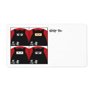 Ninja Kitty Shipping Avery Label