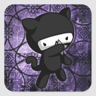Ninja Kitty Square Sticker