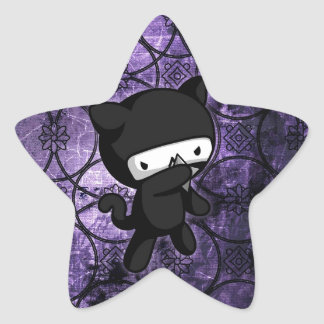 Ninja Kitty Star Sticker