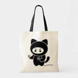 Ninja kitty tote budget tote bag
