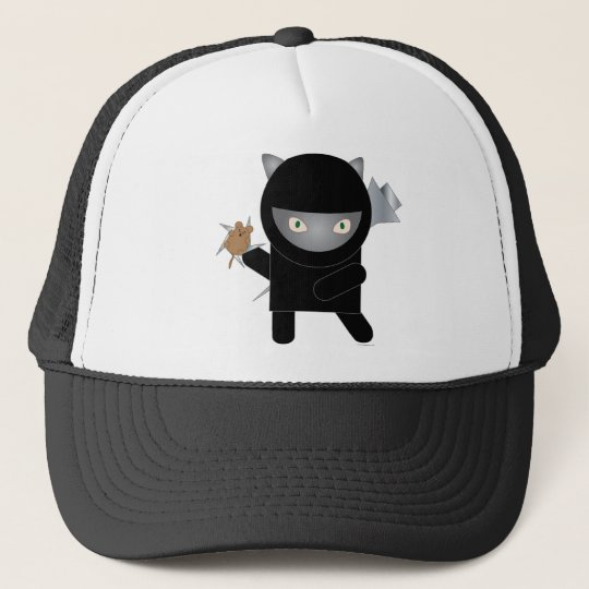 ninja kitty trucker hat