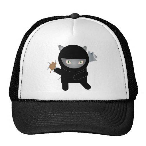 ninja kitty trucker hat