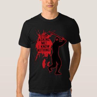 ninja knows nothing tee shirt