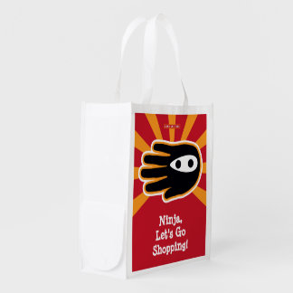 Ninja, Let's Go Shopping Reusable Grocery Bag