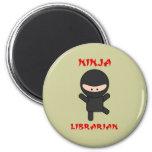 Ninja Librarian (Plain) Refrigerator Magnet