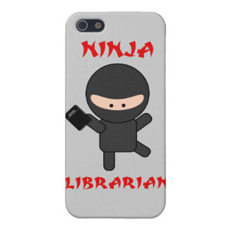 Ninja Librarian With Book Case For iPhone SE/5/5s
