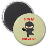 Ninja Librarian with Book Magnets