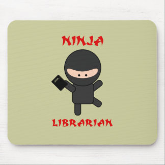 Ninja Librarian with Book Mouse Pad