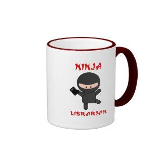 Ninja Librarian with Book Ringer Mug