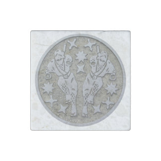 Ninja Manhole Stone Magnet