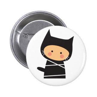 Ninja maúlla maúlla botón pin redondo de 2 pulgadas
