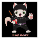 Ninja MEOW™ Poster