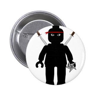 Ninja Minifig by Customize My Minifig Pinback Button