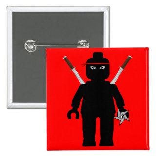 Ninja Minifig by Customize My Minifig Pinback Buttons