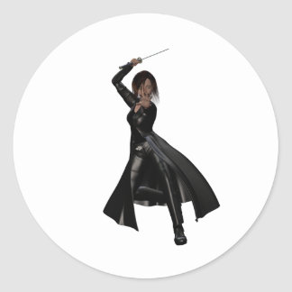 Ninja moderno etiquetas redondas