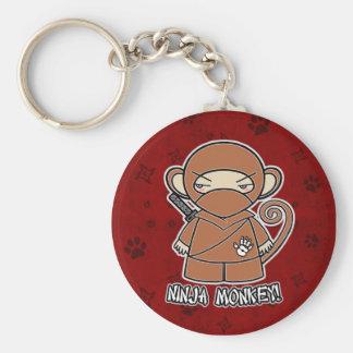 Ninja Monkey! In Red Keychain