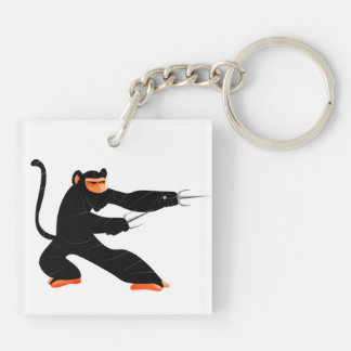 Ninja Monkey Keychain
