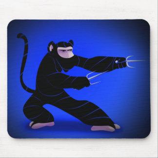 Ninja Monkey Mouse Pad