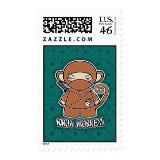 Ninja Monkey! Postage Stamp