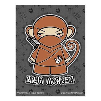 Ninja Monkey! Postcard