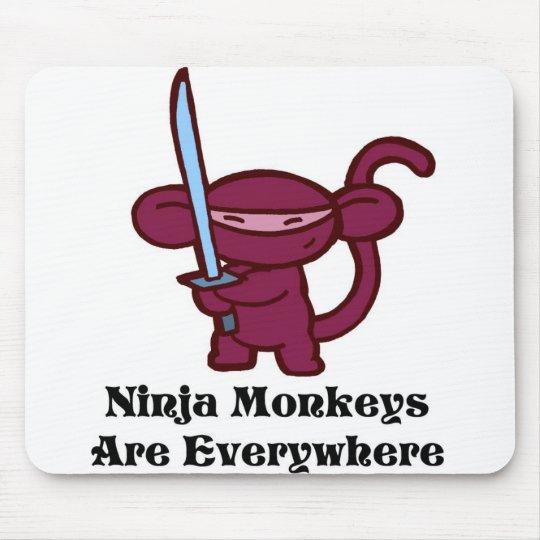 ninja-monkeysareeverywherer mouse pad