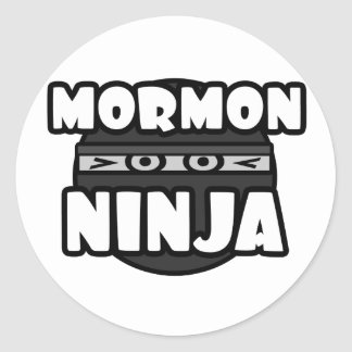 Ninja mormón pegatina redonda
