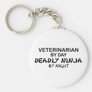 Ninja mortal veterinario llavero redondo tipo pin