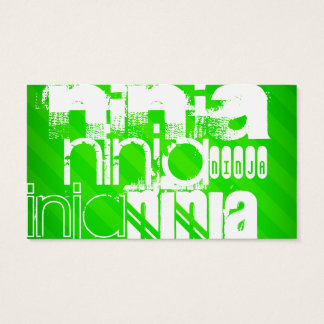Ninja; Neon Green Stripes. Business Card