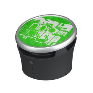 Ninja; Neon Green Stripes. Speaker