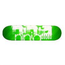 Ninja; Neon Green Stripes. Skateboard