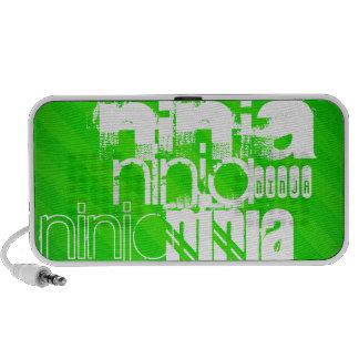 Ninja; Neon Green Stripes. Travel Speakers
