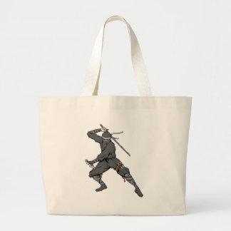 Ninja ~ Ninjas 2 Martial Arts Warrior Fantasy Art Canvas Bag