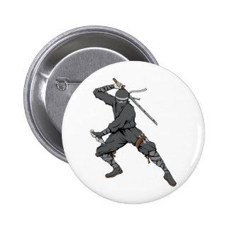 Ninja ~ Ninjas 2 Martial Arts Warrior Fantasy Art Pins
