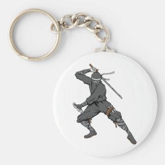 Ninja ~ Ninjas 2 Martial Arts Warrior Fantasy Art Key Chain