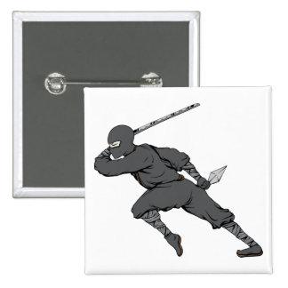 Ninja ~ Ninjas 7 Martial Arts Warrior Fantasy Art Pinback Button