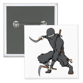 Ninja ~ Ninjas Martial Arts Warrior Fantasy Art Button