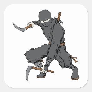 Ninja ~ Ninjas Martial Arts Warrior Fantasy Art Square Sticker