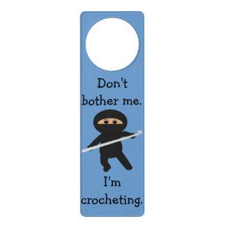 Ninja no me molesta que Crocheting Doorhanger Colgantes Para Puertas