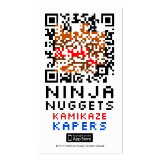 Ninja Nuggets QR Card Business Card Template